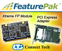 FeaturePak Embedded System Expansion Standard Module and PCI Express Adapter from Connect Tech