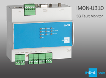 WDL Systems presents INSYS icom's new IMON-U310 fault transmitter for condition monitoring at-a-glance.