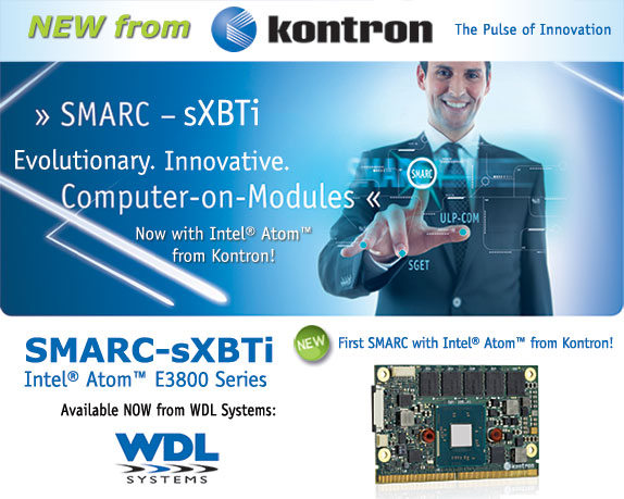 WDL Systems Offers Kontron SMARC-sXBTi Computer-on-Modules