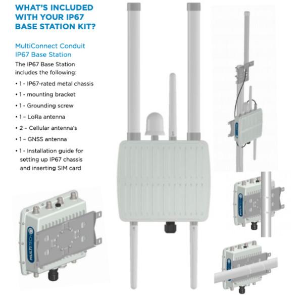 MultiTech MultiConnect Conduit IP67 LoRa Base Station GNSS Verizon